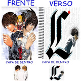 Caderno Do Death Note 10 Materias - 200 Folhas Mod 13