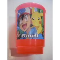 Vasos Plasticos Personalizados Pokemon Go Cumpleaños 10u