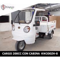 Motocarro Kingway De Caja Larga 700 Kg Con Cabina Oferta