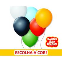 100 Pacotes Balões São Roque N°7 Escolha A Cor