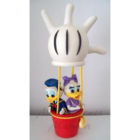 Adorno Globo Aerostático Mickey Y Sus Amigos En Porc. Fría