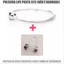 Pulseira Modelo Pandora Prata 925 Legítima Feminina + Trava