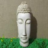 Cabeça Buda Hindu Branco Marfim Resina Grande Harmonia