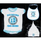 Pack Bebe X3 Body + Babero + Gorro De Belgrano Cordoba