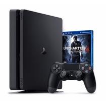 Sony Playstation 4 Slim 500gb Ps4 Play 4 + Jogo Uncharted 4