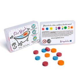Arrugadedos Color Mojado En Caja X18 Pastillas Para Bañera