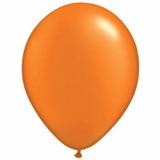 25 Globos Naranja Perlados 12
