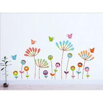 Adesivo Decorativo De Ambientes Infantil Colorido Flores