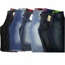 Kit 3 Bermuda Shorts Jeans Masculino Várias Marcas Promoção