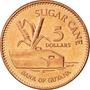 Duo De Monedas De 5 & 10 Dollars De Guyana - Caña & Mineria