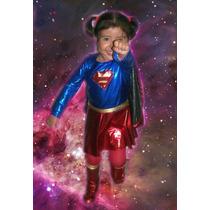 Princesas Disfraz Infantil De Super Chica / Superman