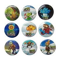 Plants Vs. Zombies Buttons Badges 9 Pcs Set #2