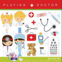 Kit Imprimible Clipart Imagenes Doctor Medico Enfermera Png