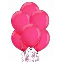 Balões São Roque N° 9 Rosa Choque Com 50 Bexigas