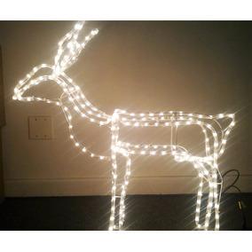 Rena Iluminada Led Fixa 220 Enfeite Natal Decoração Natalino