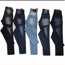 Kit Com 5 Calcas Masculinas Jeans Da Hurley Lacoste Tommy