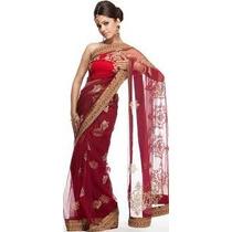 Saris Hindu Seda Vestido Importado De India 7 Mts Largo