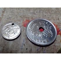 Cada Moeda Furada 50 Cruzeiros Cr$ - 1 Centavo Antiga Brasil