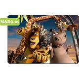 Painel Lona Fosca Festa Infantil 1,35 X 2,00 Madagascar