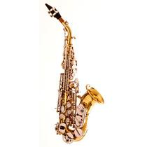 Sax Soprano Curvo Laque Chaves Niquel Hoyden Hsc 25ln