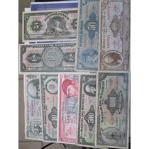 Coleccion 9 Billetes Antiguos De Mexico Seminuevos/usados