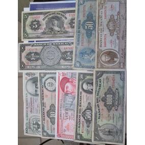 Coleccion 9 Billetes Antiguos De Mexico Usados