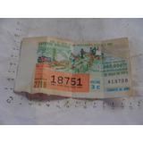 Antiguo Año1973 Billete De Loteria
