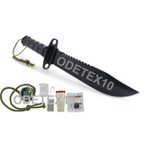 Faca Rambo C/ Kit Sobrevivencia Platoon Tática Militar Selva