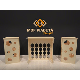 Kit Mesa Provencal Mdf 1 Mesa + 2 Cubos (mdf Cru) Colméia
