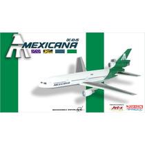 Avión Dc-10 Mexicana De Aviación Jet-x Club Raro Aeroméxico