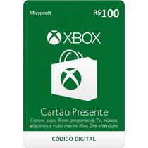 Gift Card Microsoft Xbox Live Cartão Presente 100 Reais Br