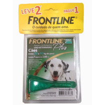 Kit C/ 2 Remedio Anti Pulga Frontline Plus P/ Cão 20 A 40kg
