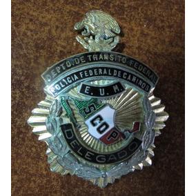 Antigua Placa Policia Federal Caminos Delegado Colección
