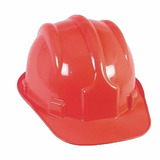 Capacete Com Carneira Segurança Epi Obra Proteção Vermelho