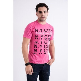 Camiseta Rothes For Men - Tshirt Ny Pink