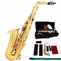 Saxofon Alto Lade Sax Eb Estuche Accesorios Nuevo Barato Mi