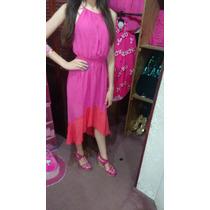 Vestido Rosa/coral Marca Shasa