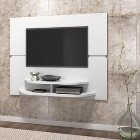 Painel Para Tv Sala Dj Móveis Branco