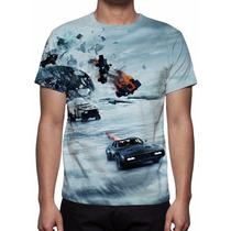 Camisa, Camiseta Filme Velozes E Furiosos 8 - Estampa Total