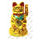 Gatinho Sorte Chinês Balança Mão Gato Maneki Neko À Pilha