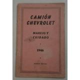 Manual De Uso 100% Original: Pick Up - Camión Chevrolet 1946