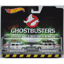 Hot Wheels Pack C/ 2 Caça Fantasmas Ghostbuster Ecto 1 E 1a