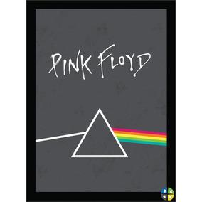 Quadro Poster Pink Floyd Modelo 1 Rock Musica Com Moldura A3