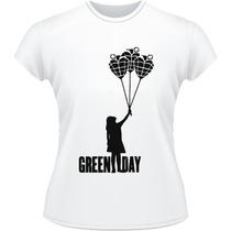 Baby Look Camisa Green Day American Idiot Punk Camiseta Rock
