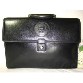 55b759ec902 Vintage Gianni Versace Maleta Executiva Raríssima