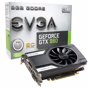 Placa De Video Vga Evga Geforce Gtx 960 Superclock 2gb Ddr5