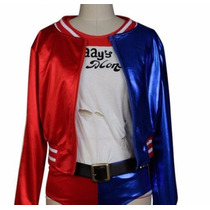 Disfraz Harley Quinn Suicide Squad Halloween Vinipiel Latex