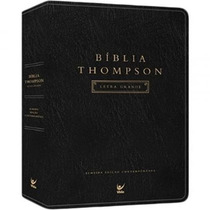 Bíblia Thompson Letra Grande Luxo Com Índice Frete Grátis
