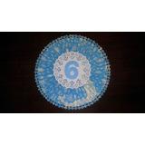 Roseta De Papel Con Bordes Troquelados 25cm Diametro