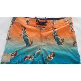 Shorts De Baño Bermuda Hawaiana Surf Hombre Hang Ten